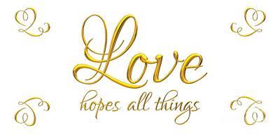 Digital Art - Corinthians Love Hopes All Things by Rose Santuci-Sofranko