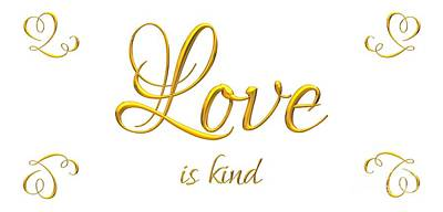 Digital Art - Corinthians Love Is Kind by Rose Santuci-Sofranko