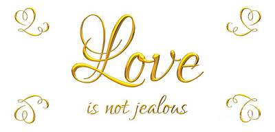 Digital Art - Corinthians Love Is Not Jealous by Rose Santuci-Sofranko