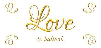 Digital Art - Corinthians Love Is Patient by Rose Santuci-Sofranko