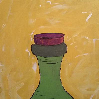 Painting - Cork And Bottle by Yshua The Painter