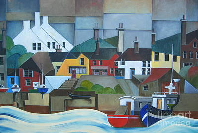 Painting - Cork.. Baltimore Harbour by Val Byrne