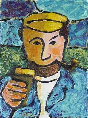 Cork Fisherman Original by Richard W Dillon