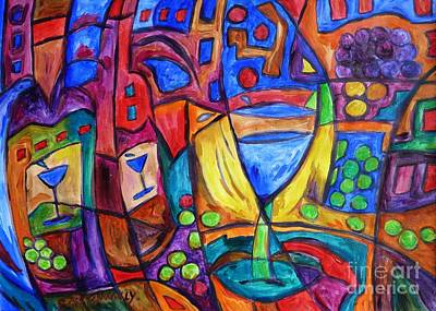 Painting - Cork Popping Grape Fest by Dianne  Connolly