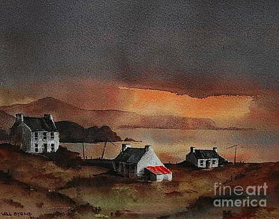 Painting - Cork... Beara Sunset Near Allihies by Val Byrne