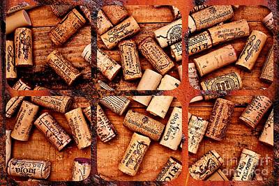 Corks And Coasters Art Print by Clare Bevan