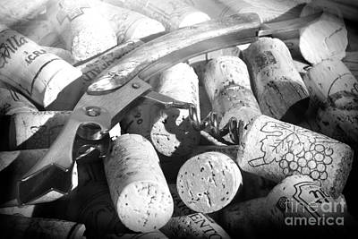 Tasting Photograph - Corks And Pull Corkscrew by Stefano Senise
