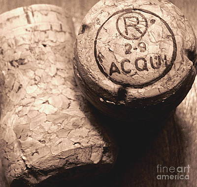 Photograph - Corks In Sepia Tone by Colleen Kammerer