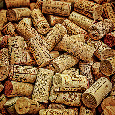 Photograph - Corks by Lewis Mann
