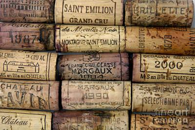 Corks Of French Wine Art Print by Bernard Jaubert