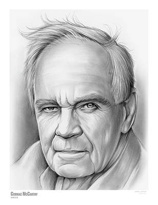 Novelist Drawing - Cormac Mccarthy by Greg Joens
