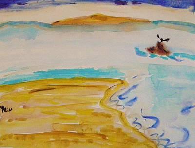 Painting - Cormorant Landing by Mary Carol Williams