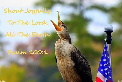 Photograph - Cormorant Psalm 100 1 by Lisa Wooten