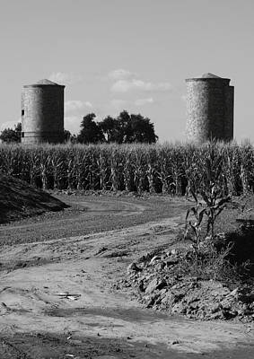 Brick Silos Photograph - Corn And Silos by Troy Montemayor