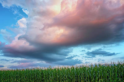 Photograph - Corn Clouds And Stuset Weldon Spring Mo Grk8361_07152018-hdr by Greg Kluempers