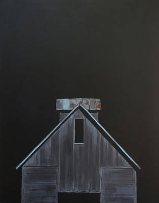 Corn Crib Painting - Corn Crib by Jeffrey Bess