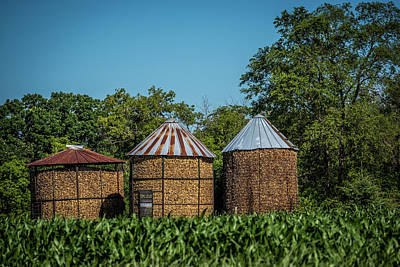 Corn Cribs Photograph - Corn Cribs by Paul Freidlund