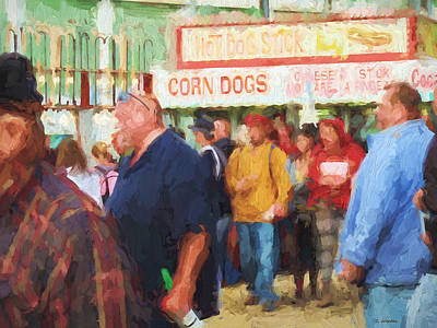 Painting - Corn Dogs by Cathy Jourdan