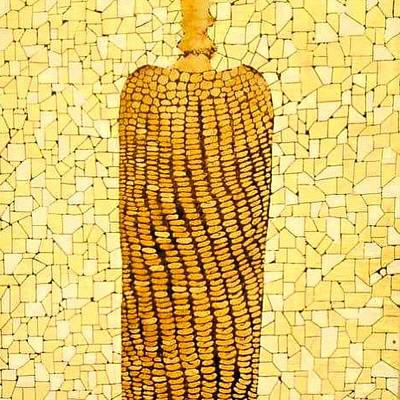 Vegetables Relief - Corn by Emil Bodourov