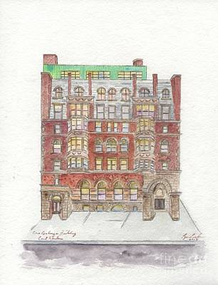 Painting - The Historic Corn Exchange Building In East Harlem by Afinelyne