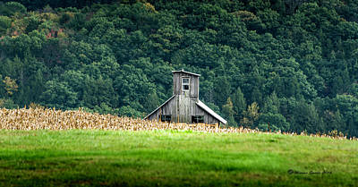 Photograph - Corn Field Silo by Marvin Spates
