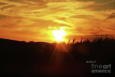 Photograph - Corn Field Sunset by Yumi Johnson