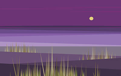 Digital Art - Corn Field Twilight by Val Arie