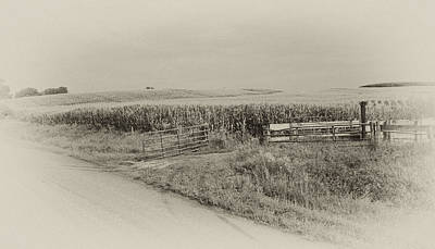 Photograph - Corn Gate Rusty by Wilma  Birdwell