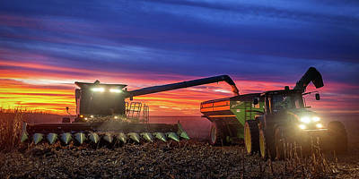 Iowa Farm Photograph - Corn Grind by Thomas Zimmerman