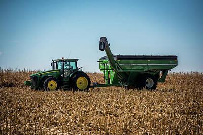 Country Scenes Photograph - Corn Harvest Euipment by Paul Freidlund
