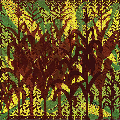 Digital Art - Corn Harvest Havoc by Ric Darrell
