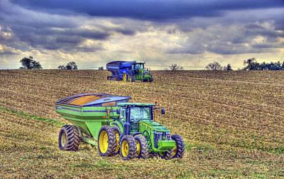 Bailing Hay Photograph - Corn Harvest No3 by Sam Davis Johnson