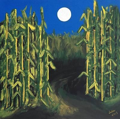 Painting - Corn Maze by Heidi Moss