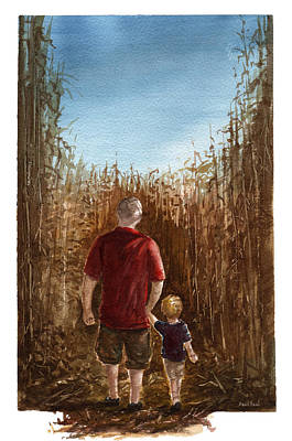 Father Painting - Corn Maze by Sean Seal