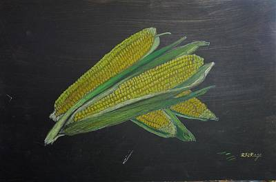 Pastel - Corn On The Cob by Richard Le Page