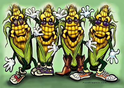 Corn Party Art Print by Kevin Middleton