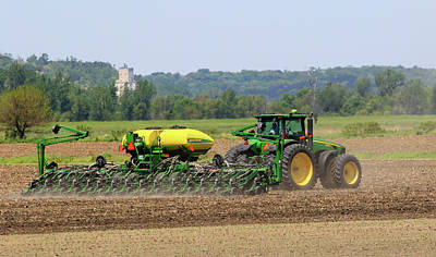 Photograph - Corn Planting Fremont County Iowa by J Laughlin