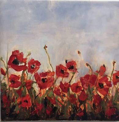 Painting - Corn Poppies In Remembrance by Debbie Frame Weibler