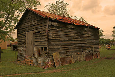 Photograph - Corn Shed by Ronald Olivier