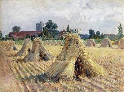 Corn Painting - Corn Stooks By Bray Church  by MotionAge Designs