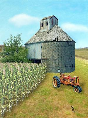 Digital Art - Corn Storage by Ric Darrell