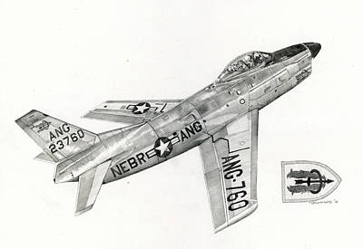 Fighter Jet Drawing - Corndog by Mark Jennings