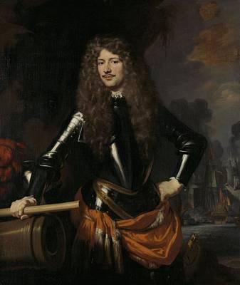 Zeeland Painting - Cornelis Evertsen, Lieutenant-admiral Of Zeeland, Nicolaes Maes, 1680 by Celestial Images