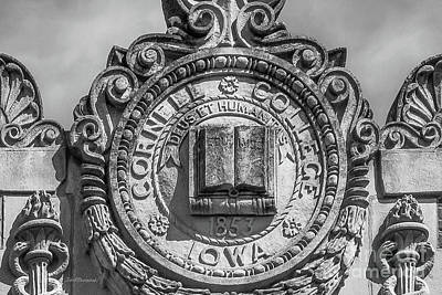 Iowa Photograph - Cornell College Seal by University Icons