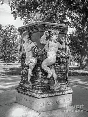 Iowa Photograph - Cornell College The Old Fountain by University Icons