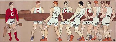 1907 Painting - Cornell Eight Crew Rowing Poster by MotionAge Designs
