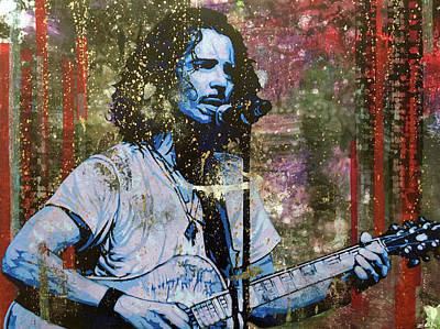Pearl Jam Painting - Cornell - Steel Rain by Bobby Zeik