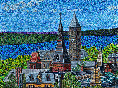 Ithaca Painting - Cornell University by Micah Mullen