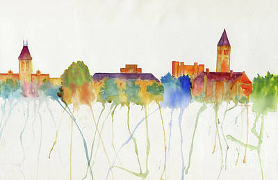 Painting - Cornell University Skyline by Melly Terpening
