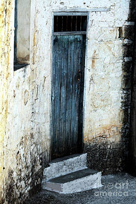 Photograph - Corner Blue Door by John Rizzuto